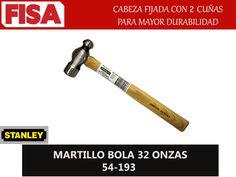 MARTILLO BOLA 32 OZ 54-193. Cabeza fijada con 2 cuñas para mayor durabilidad- FERRETERIA INDUSTRIAL -FISA S.A.S Carrera 25 # 17 - 64 Teléfono: 201 05 55 www.fisa.com.co/ Twitter:@FISA_Colombia Facebook: Ferreteria Industrial FISA Colombia