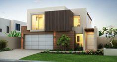 Brick House Exterior with Windows & Landscaped Garden