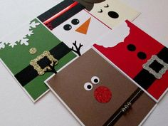 Luxury Hand Pressed Christmas Cards - Merry Christmas - Noel - Joy - Peace - Xmas Cards - Greeting C Christmas Note, Christmas Card Crafts, Homemade Christmas Cards, Xmas Cards, Homemade Cards, Handmade Christmas, Holiday Cards, Christmas Decorations, Simple Christmas