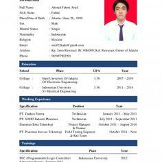 marital status resume