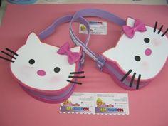 come realizzare una borsetta di hello kitty in foamy