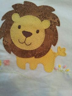 Aplique para lencol de bebe: