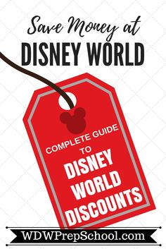 There are several different types of discounts for Disney World, and knowing what they are and when you might expect them to be offered can help you plan | Save money on Disney World trips | Disney World discounts