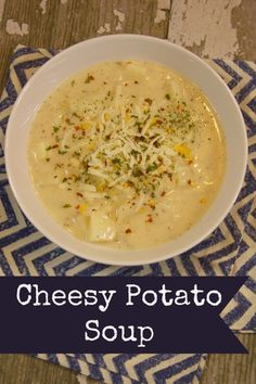 The delicious flavor found in this Cheesy Potato Soup recipe is boosted with Swanson Cream Starter and Chicken Broth. Try it for dinner this winter!