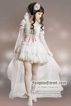 +Gothic Lolita+ Hime Princess Lolita,Elegant Fairy,Dance Outfit*7pcs (Wedding gown style inspiration)