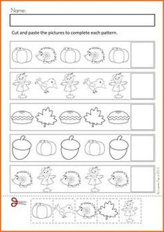 Autumn / Fall Math Worksheets & Activities No Prep
