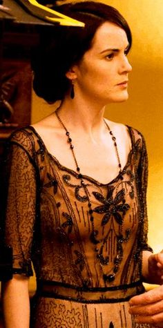 Lady Mary's fine evening dress