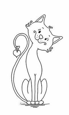 Pond Creations: Sketchbook News: New in the studio and a free digi!Oak Pond Creations: Sketchbook News: New in the studio and a free digi! Cat Coloring Page, Colouring Pages, Coloring Books, Silhouette Chat, Embroidery Patterns, Hand Embroidery, Cat Quilt, Cat Crafts, Cat Drawing