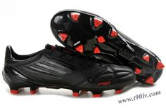 sports shoes e0f33 05d31 Adidas F50 AdiZero TRX FG Leather - Paint Black-Black-Infrared Leather  Soccer Cleats