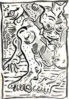 "Saatchi Art Artist Felix Carr; Drawing, ""Things We Heard"" #art"