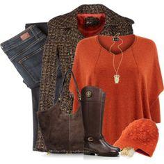 Orange Hat & Orange Sweater