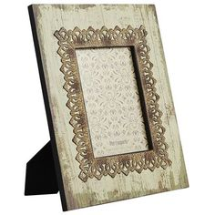 Wood and Metal Lace Frame