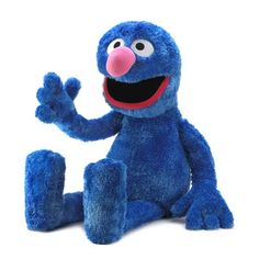 "$99.95 Sesame St. Jumbo Grover Plush  Life-sized Grover makes a perfect playmate for your lucky little one! This jumbo plush Sesame Street character is huggably soft and irresistibly lovable for safe and imaginative play.Weight: 3.8 lbs. 14"" x 13 1/2"" x 41"" high."
