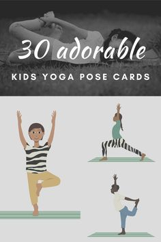 Yoga cards for kids! 30 adorable and diverse images of kids doing yoga, plus a specific kids yoga card sequence based on the best poses for kids yoga.
