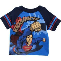 "Superman ""Kkrunch"" Blue Toddler T-Shirt (2T) DC Comics http://www.amazon.com/dp/B00CJHQNF8/ref=cm_sw_r_pi_dp_9BP0tb1RKAT5ECQK"