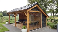 wooden sliding walls-shed-glass woodpergola ., glass sliding walls wood shed woodpergola # covered pergola When age-old within idea, a pergola may be having a present day rebirth these types of days. A stylish backyard. Rustic Pergola, Wood Pergola, Deck With Pergola, Cheap Pergola, Covered Pergola, Pergola Shade, Pergola Plans, Pergola Kits, Backyard Pavilion