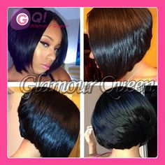 Find More Wigs Information about Virgin Human hair hand tied short wigs 130 density full lace bob wigs / lace front wig for black women natural hairline in stock,High Quality wig adhesive,China wigs korea Suppliers, Cheap wig pull from Glamour Fashion Hair CO.,LTD on Aliexpress.com