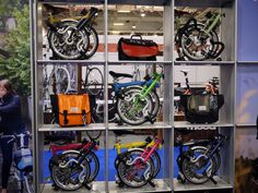 Brompton Display at the London Bike Show 2013 (by Shutt Velo Rapide)
