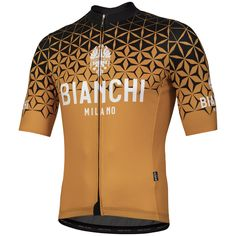 Bianchi Conca Short Sleeve Jersey - Orange 954169ce5
