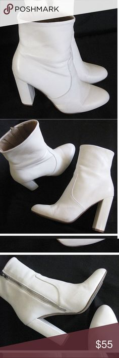 Steve Madden Editor white boots Chic white boots In excellent condition Steve Madden Shoes Ankle Boots & Booties