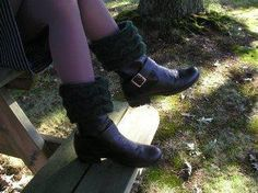(6) Name: 'Knitting : Wavy Cable Boot Toppers