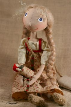 Cloth Doll.... Vasilisa from a Russian fairy tail story