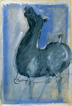 @KNOCKaRT: Cavallo (1949) Marino Marini @krollermuller #collectievissen #blauw http://t.co/QzQl1Gj6