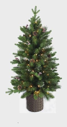 404c9d5bea81e Enchanted Forest® 4  Prelit Decorated Artificial Christmas Tree  25