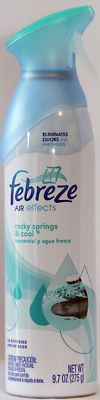 3 Febreze Air effects, Air Freshens, Eliminates odors *** Brighten the mood with your favorite fragrances *** Febreze AIR effects - rocky springs & cool Rocky Springs, Bbq Lighter, Foot Powder, Cotton Pads, Spray Bottle, Fragrances, Mood, Products, Gadget