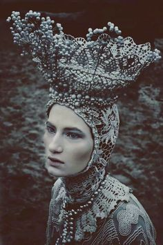 Photographer:Marcin Nagraba - Photography & Art Designer:Agnieszka Osipa costume & fashion designer Makeup:Patryk Nadolny Model: Wiktoria Soszyńska @AMQ models. Wroclaw. Poland   via Dark Beauty Magazine