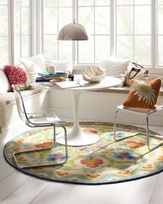 Porcelain Garden Hooked Wool Rug by Company C - Sizes 1, 2 & 5