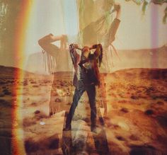 Sugarhigh + Lovestoned by Davis Ayer + double exposure Woodstock, Mundo Hippie, Sugarhigh Lovestoned, Desert Dream, Psy Art, Desert Fashion, Lomography, Wild And Free, Double Exposure