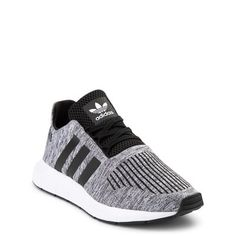 adidas Swift Run Athletic Shoe - Big Kid - Gray / Black Addidas Shoes Mens, Adidas Shoes Women, Adidas Men, Adidas Clothing, Adidas Logo, New Shoes, Women's Shoes, Black Adidas, Cute Shoes