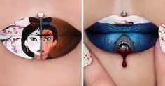 Artist Turns Her Lips Into Works Of Art | Bored Panda