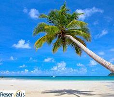 Con este Calor nos encantaria estar en una playa del Caribe!!    www.reservalis.com/vuelos