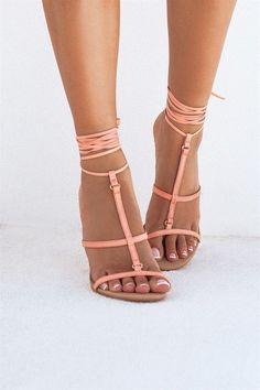 6fbb0fc91a30 Karmela Heels - Coral  SaboSkirt x  WantedHeels Coral Shoes
