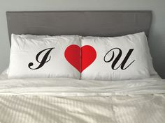I LOVE YOU  Pillow Funny Gift Free Shipping
