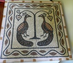 Making a floor mosaic - from start to finish.