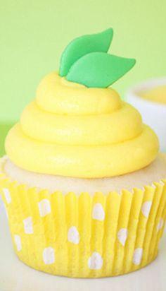Lemon Pudding Cupcakes (white cake, lemon pudding filling, lemon buttercream frosting)