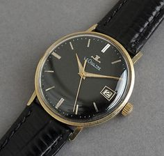 JAEGER-LECOULTRE-14K-Solid-Gold-Vintage-Gents-Watch-c1963-STUNNING