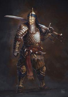 ArtStation - Eastern knight, David Escribano Herrero