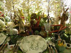 Easter garden table