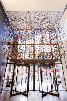 Rebecca Louise Law on Her Installation at the Viacom Building in Times Square - NYTimes.com