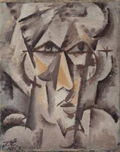 Josef Čapek, Hlava (Autoportrét), 1913 Selfies, Georges Braque, Writers And Poets, Constructivism, Modern Art, Scene, Paintings, Illustrations, Landscape