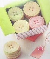 Crafty button sugar cookies {recipe and tutorial}. Makes a cute little gift. I made these vanilla & chocolate, large and small and used a decorating tip to make 2 or 4 holes. Put in small bags and sold out at bake sale! B
