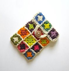 iPad mini case, cover, sleeve, pouch, cosy, colorful, crochet, patchwork, granny square, lady gift, gift for her, eco friendly. $38.00, via Etsy.