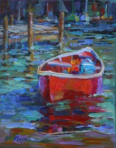 winter impressionistic pictures | ... Blaylock, American Impressionist: SOMEBODY'S BABY..LITTLE RED BOAT