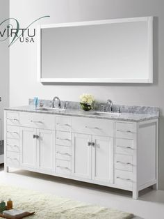 Picture Gallery Website Double Bathroom Vanity Cabinet Bring both form and function to your bathroom decor with the Virtu Caroline Parkway in This gorgeous vanity in