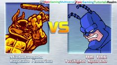 Twilight Sparkle And The Tick VS Michelangelo And Captain America In A MUGEN Match / Battle / Fight This video showcases Gameplay of Twilight Sparkle From The My Little Pony Friendship Is Magic Series And The Tick VS Michelangelo From The Teenage Mutant Ninja Turtles / TMNT Series And Captain America The Superhero In A MUGEN Match / Battle / Fight