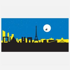Paris Riding the Moon, $19, now featured on Fab.
